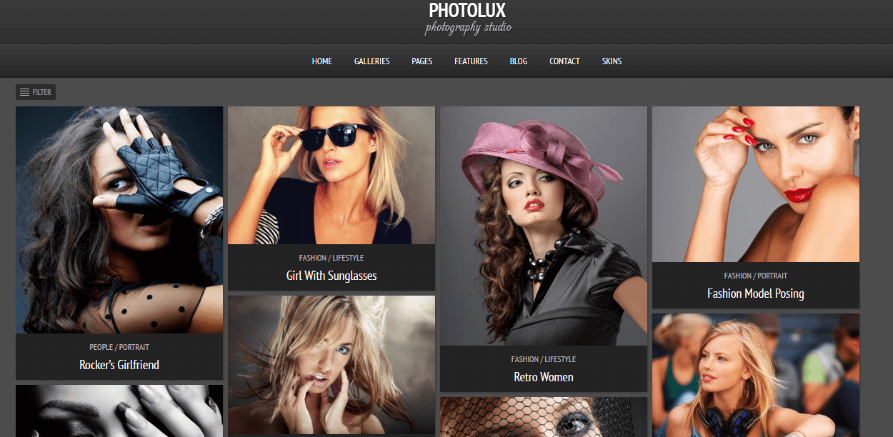 Photolux - Best Premium Photography WordPress Themes