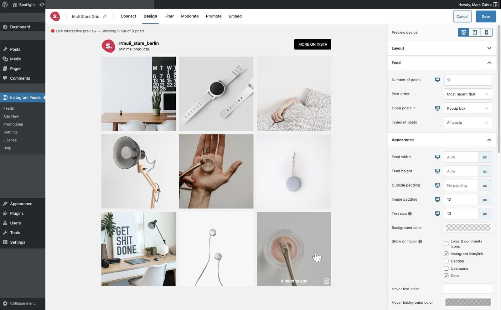 Spotlight Instagram Feeds - Design
