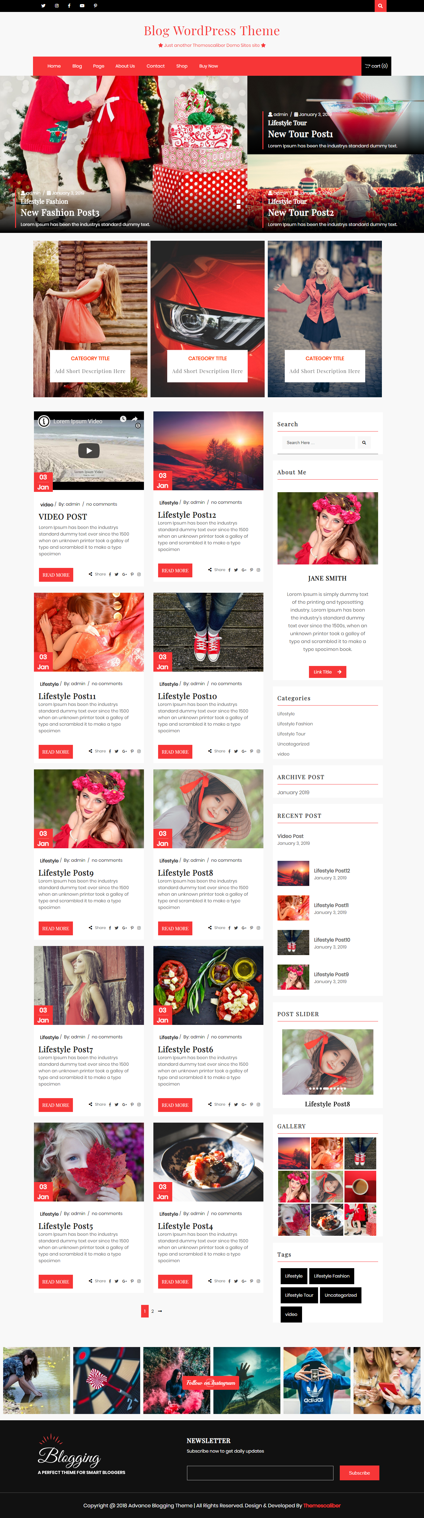 Advance Blogging - Best Free Lifestyle WordPress Theme