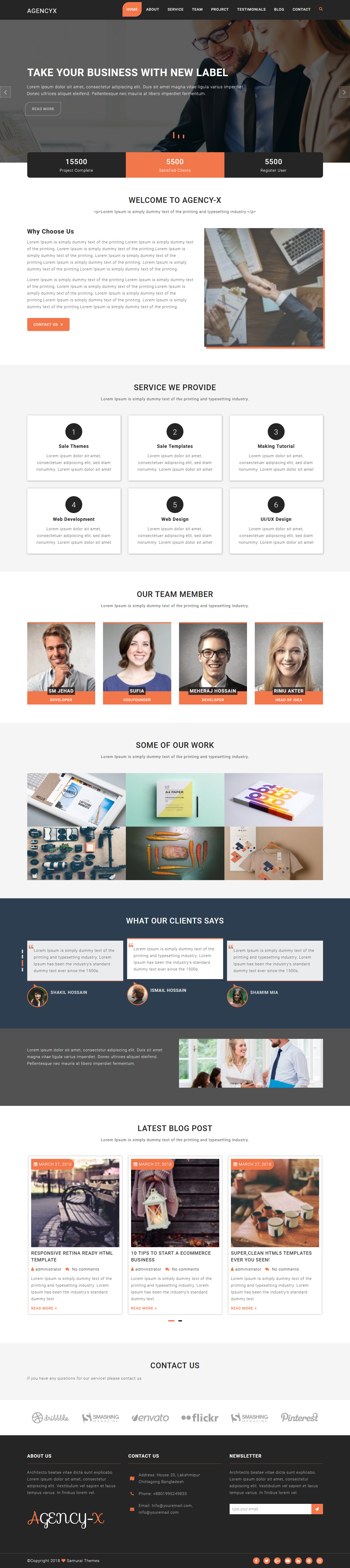 Agency X - Best Free Consulting WordPress Theme