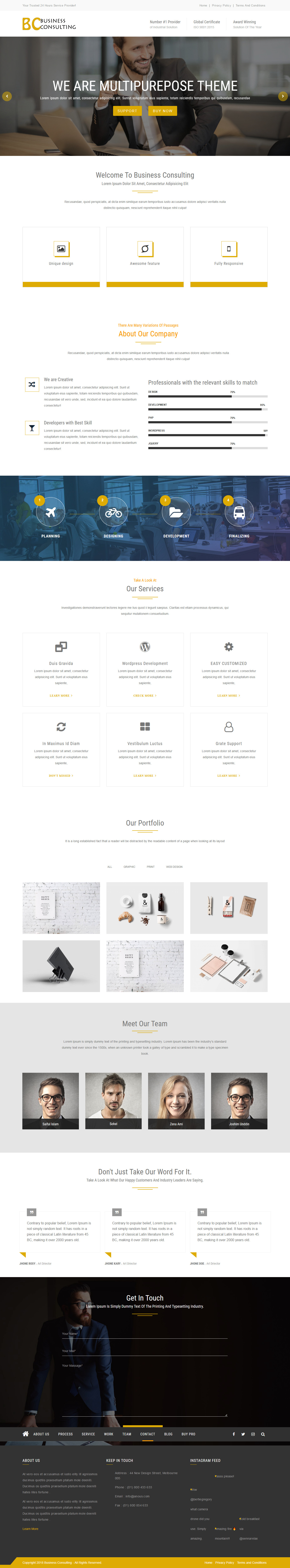 BC Business Consulting - Best Free Consulting WordPress Theme