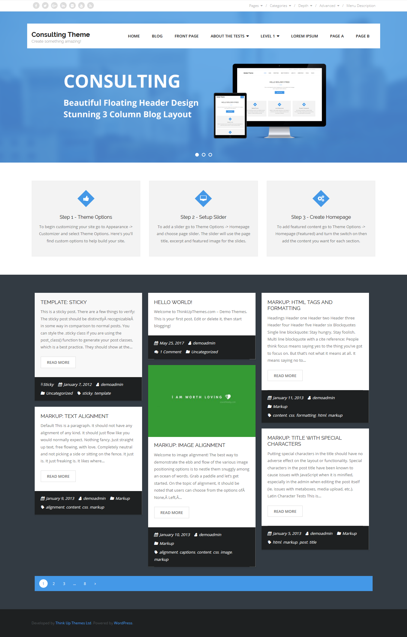 Consulting - Best Free Consulting WordPress Theme