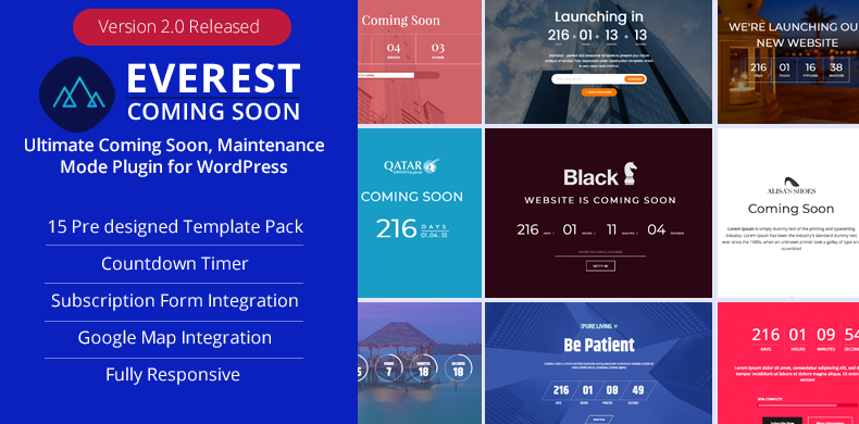 Ultimate Coming Soon, Maintenance Mode Plugin for WordPress – Everest Coming Soon
