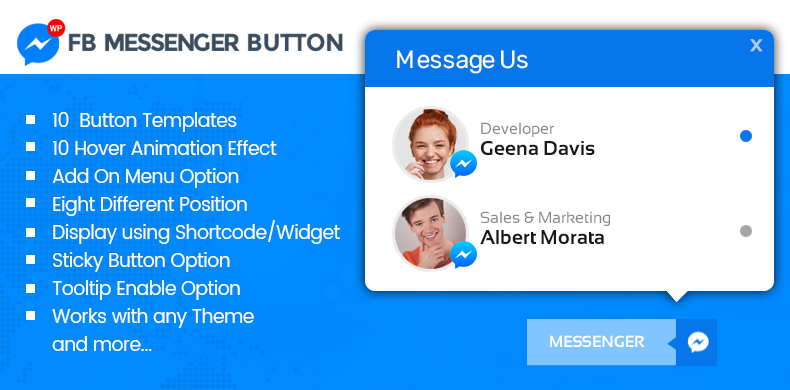 Add Messenger Button on WordPress: WP FB Messenger Lite