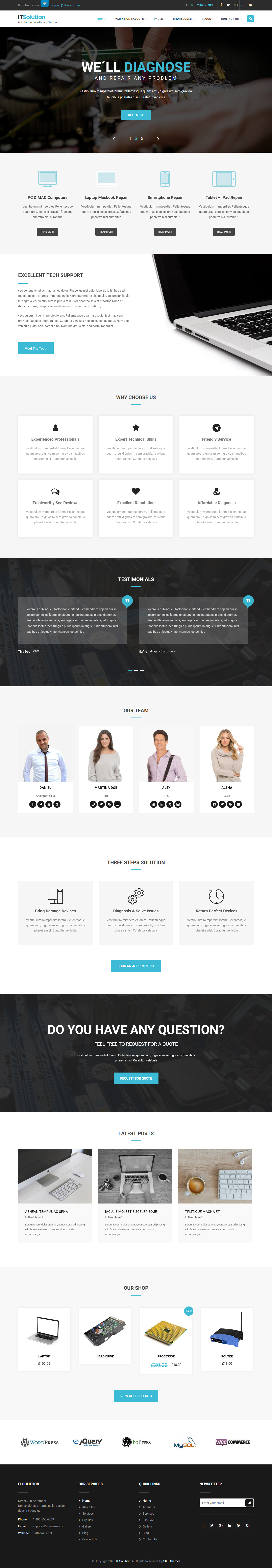 IT Solutions - Best Free Consulting WordPress Theme
