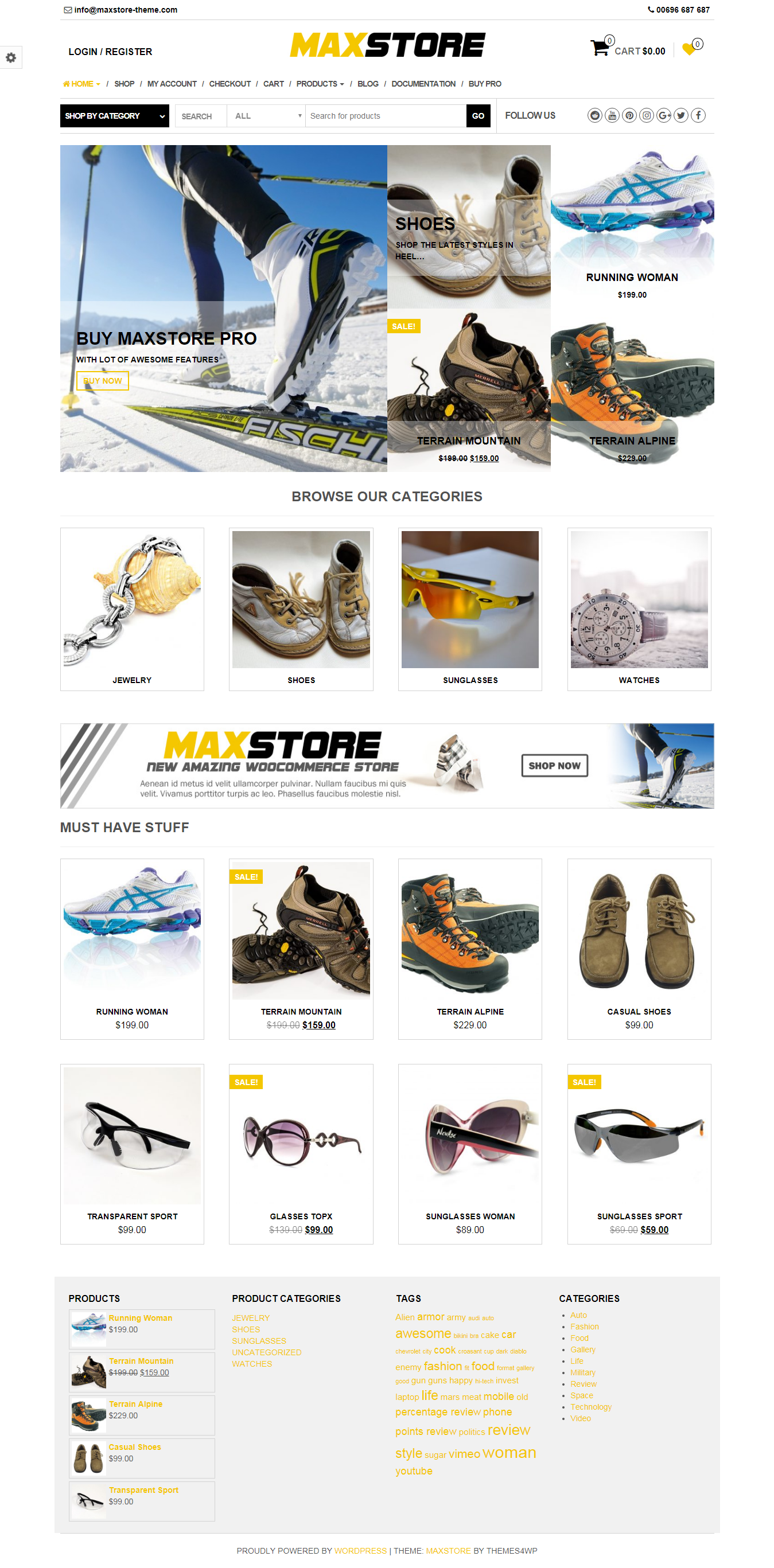 Maxstore - Best Free Retail Shop WordPress Themes