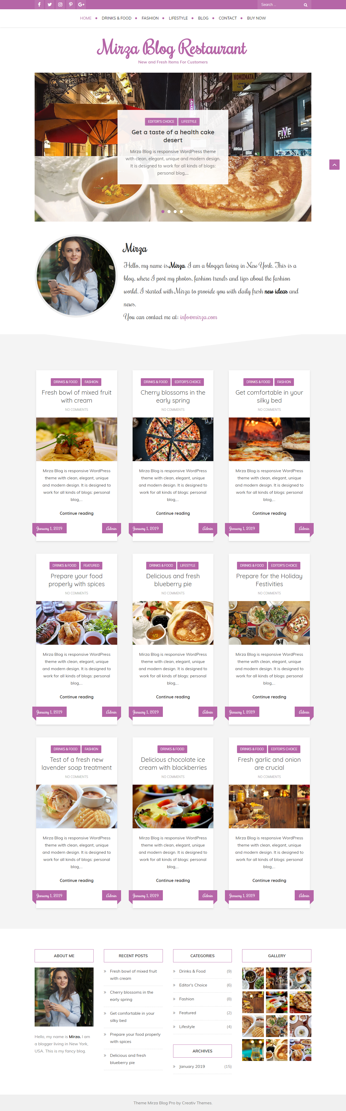 Mirza Blog - Best Free Lifestyle WordPress Theme