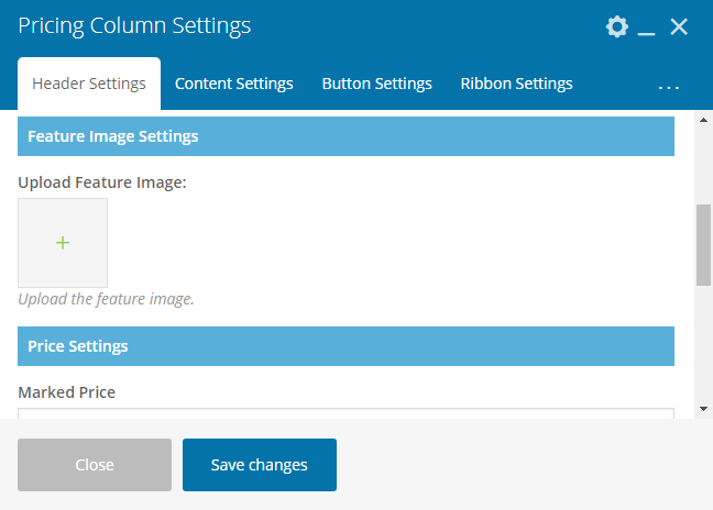 Pricing Table Addon For Visual Composer - Pricing Table Upload Image
