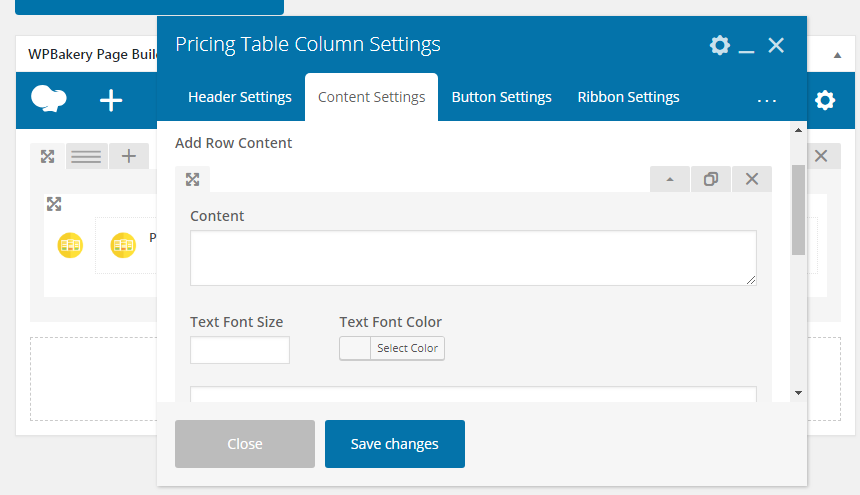 Pricing Table Addon For Visual Composer - Pricing Table Appended Content