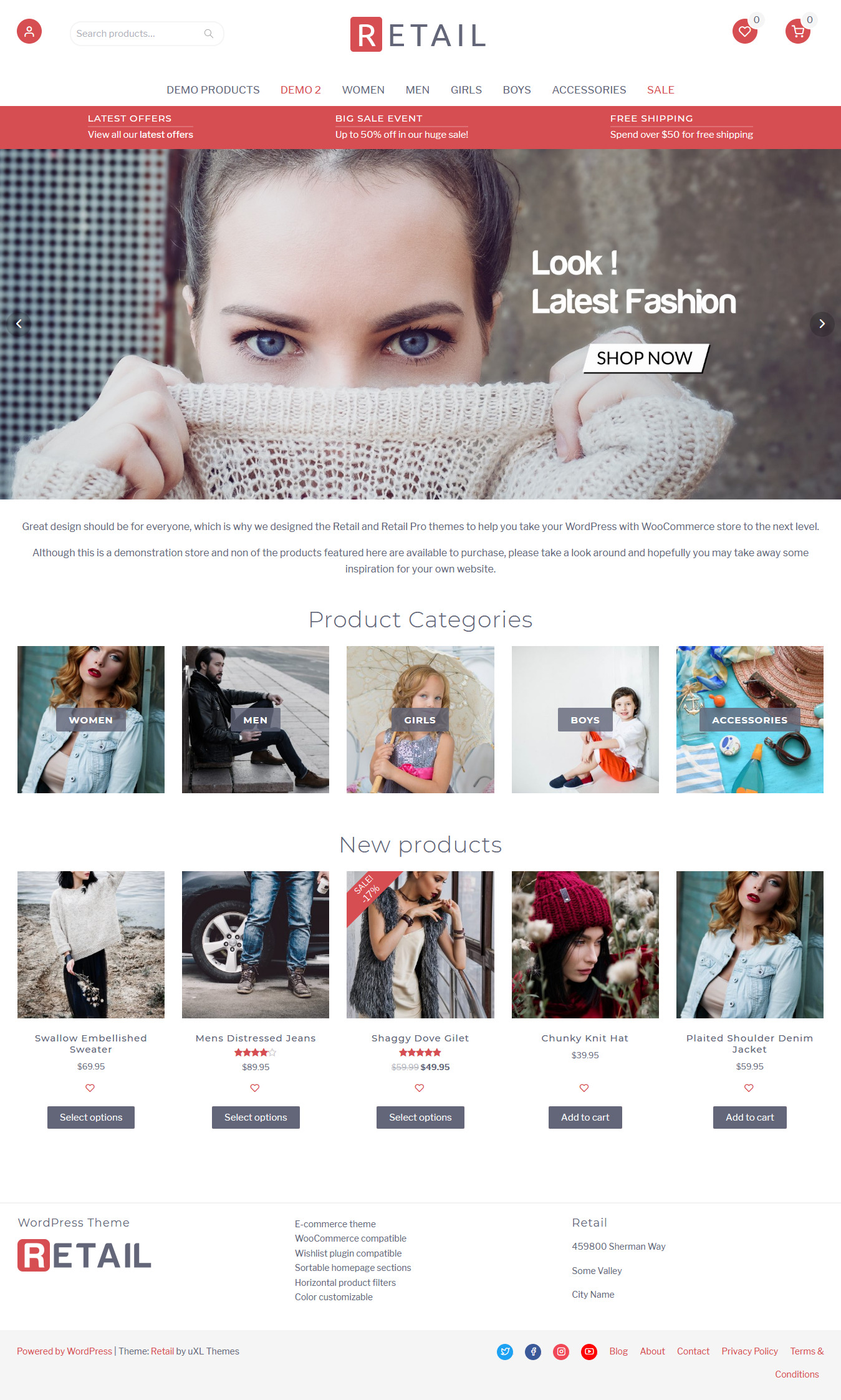 Retail Shop - Best Free Retail Shop WordPress Theme