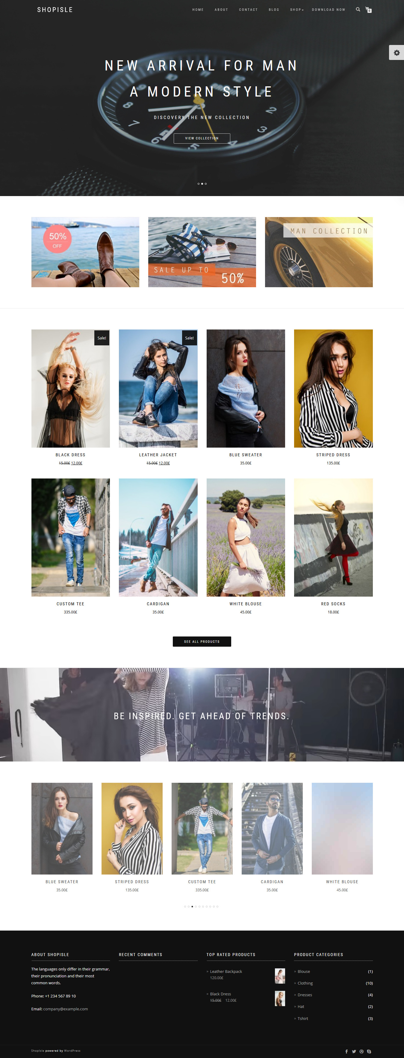 ShopIsle - Best Free Retail Shop WordPress Theme