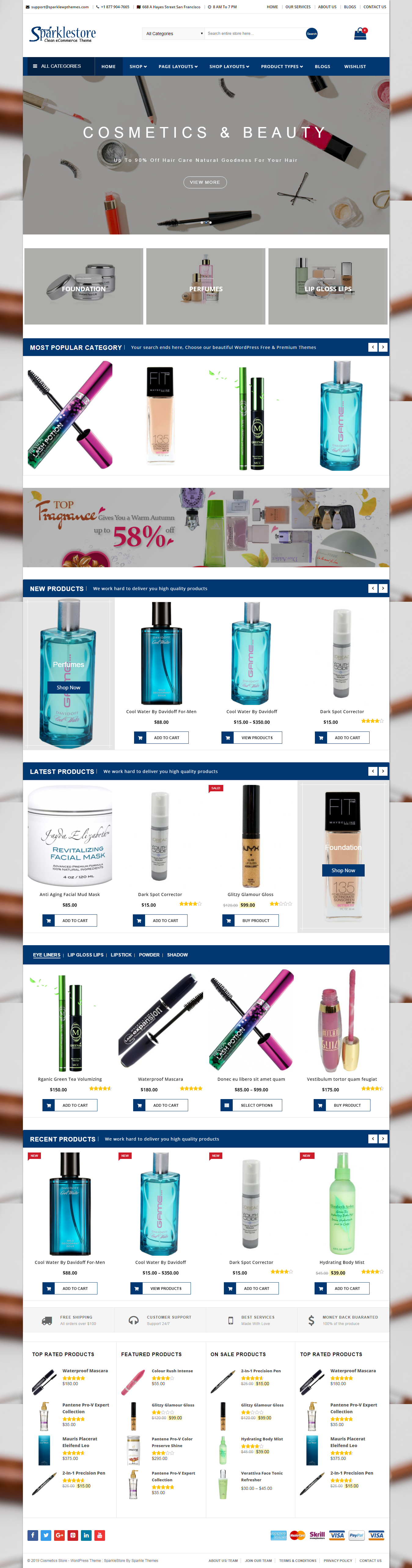 Sparklestore - Best Free Retail Shop WordPress Themes