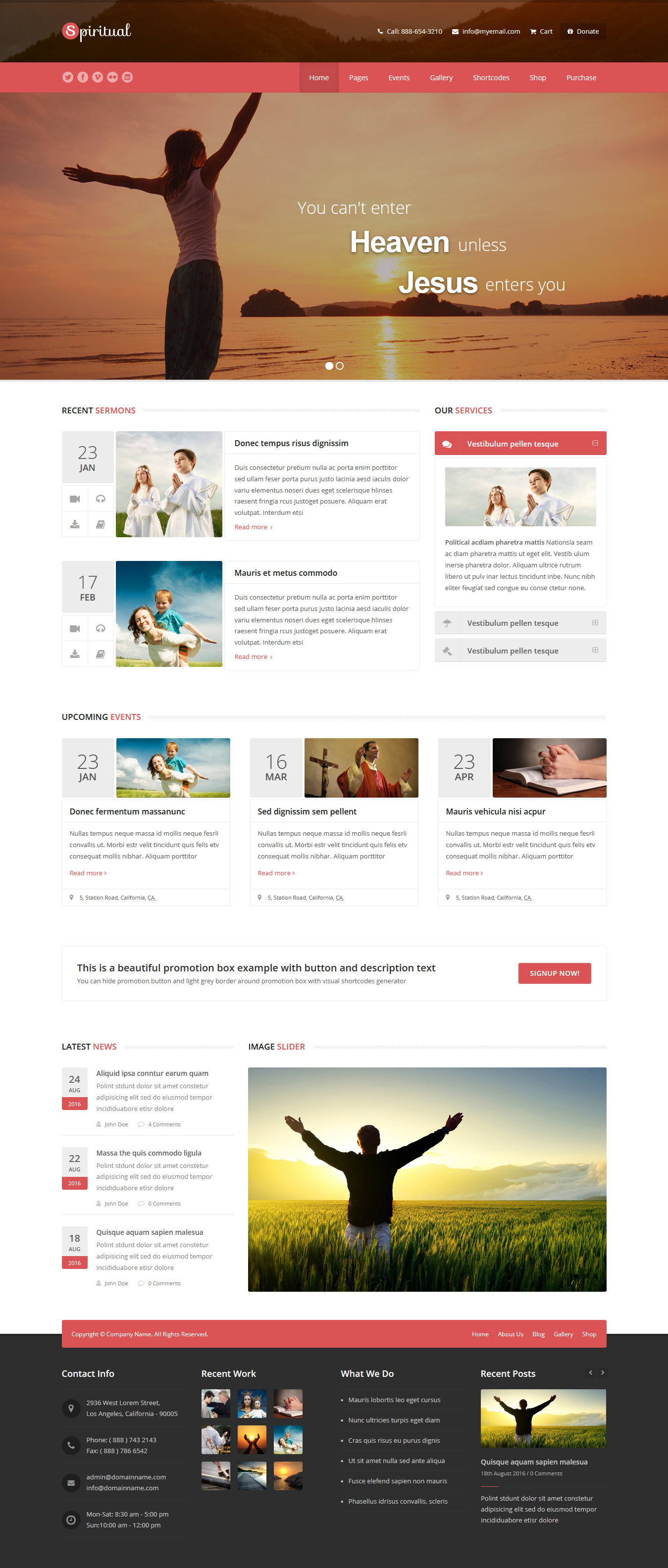 Spiritual - Best Premium Church WordPress Theme