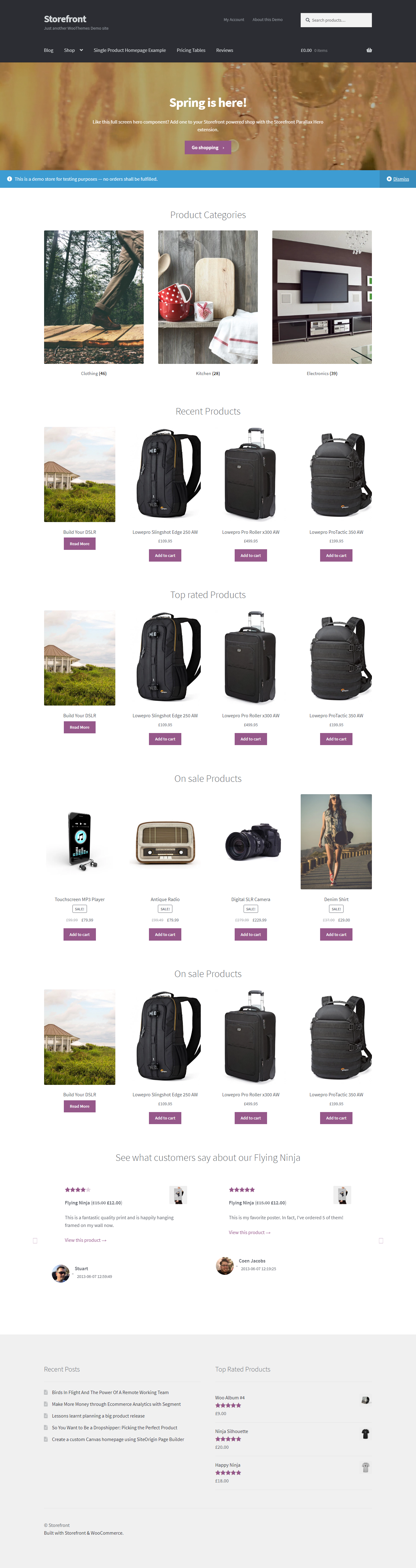 StoreFront - Best Free Retail Shop WordPress Theme