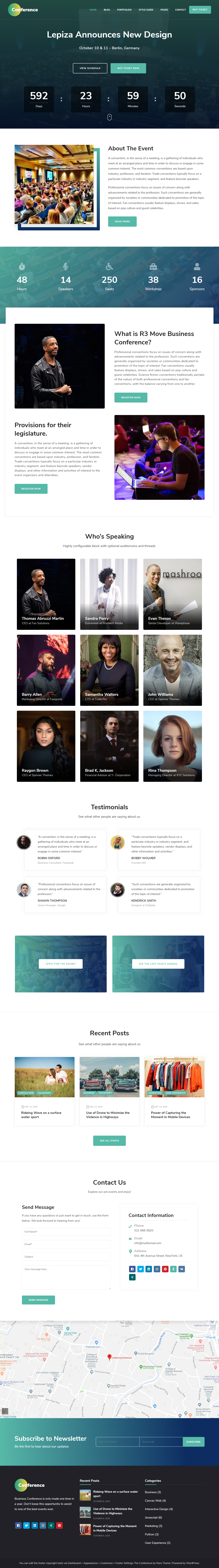 the conference best free seo agency wordpress theme - 10+ Best Free SEO Agency WordPress Themes