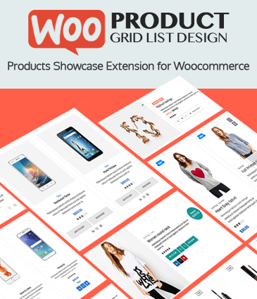 Responsive Products Showcase Listing for WordPress – WOO Product Grid/List Design