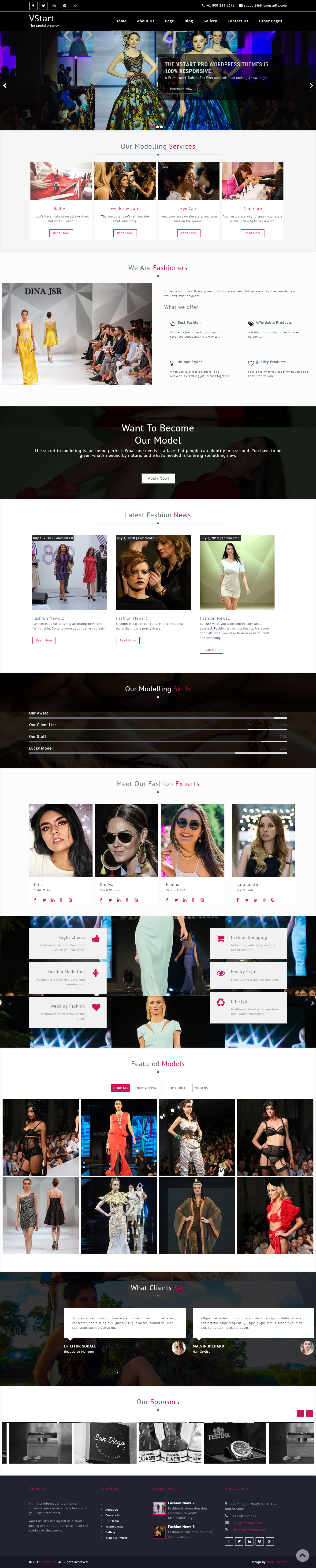 VStart - Best Free Lifestyle WordPress Theme