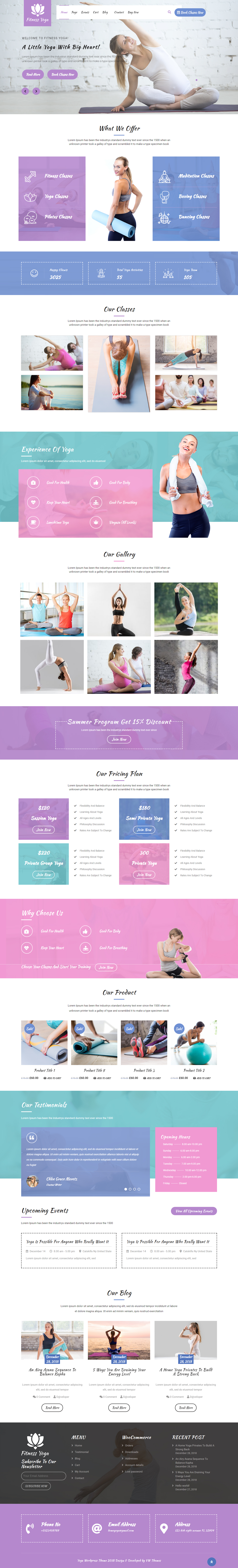 VW Yoga Fitness - Best Free Lifestyle WordPress Theme
