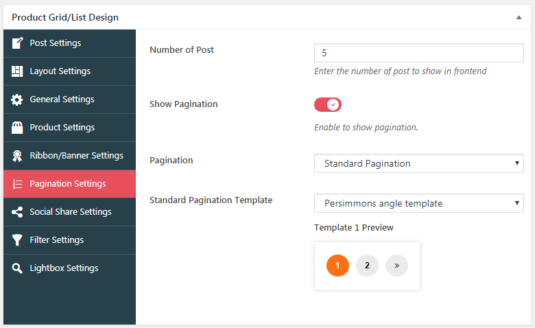 pagination-settings