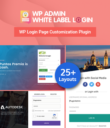 WordPress Plugin For Advanced Customizable Login page – WP Admin White Label Login