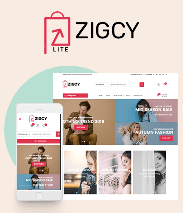 Free E-Commerce WordPress Theme – Zigcy Lite