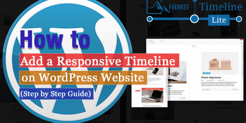 How to Add a Responsive Timeline on your WordPress Website? (Step by Step Guide)
