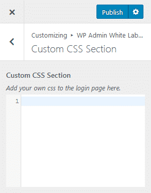 Custom CSS Section
