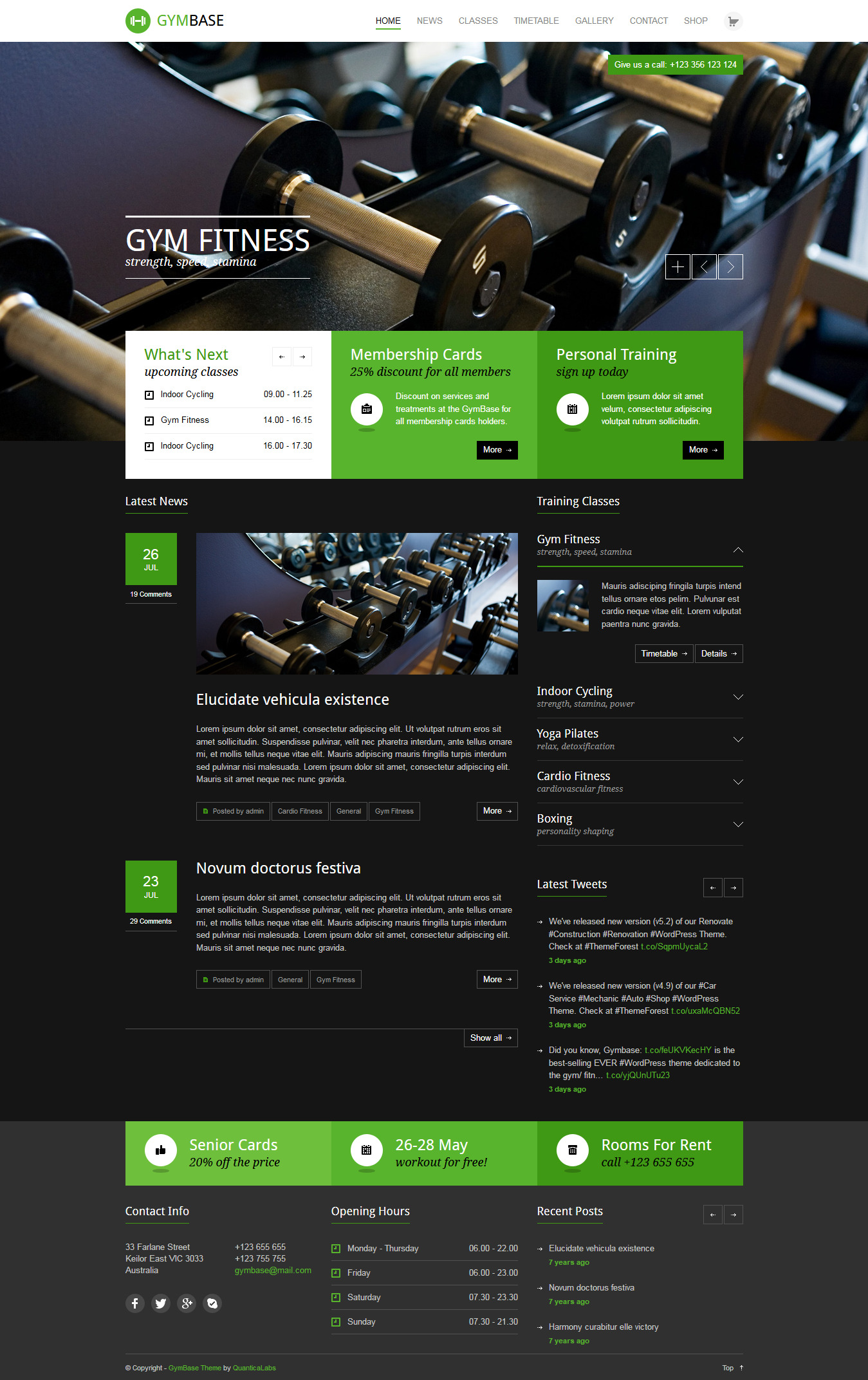GymBase - Best Premium Fitness WordPress Theme