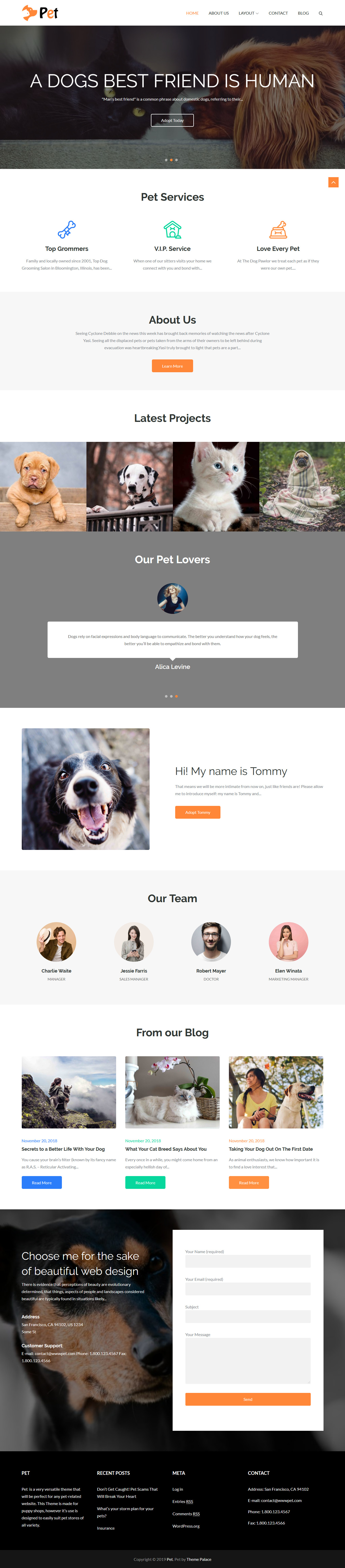 Pet Business - Best Free Animal and Pet WordPress Theme