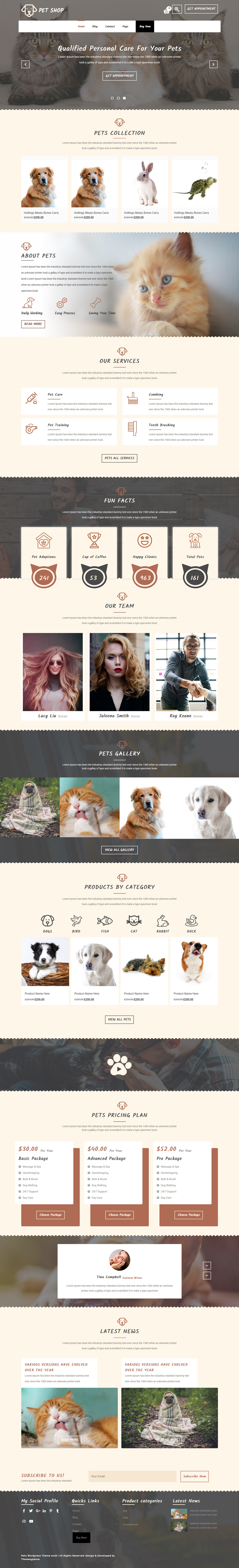 Pet Animal Store- Best Free Animal and Pet WordPress Theme