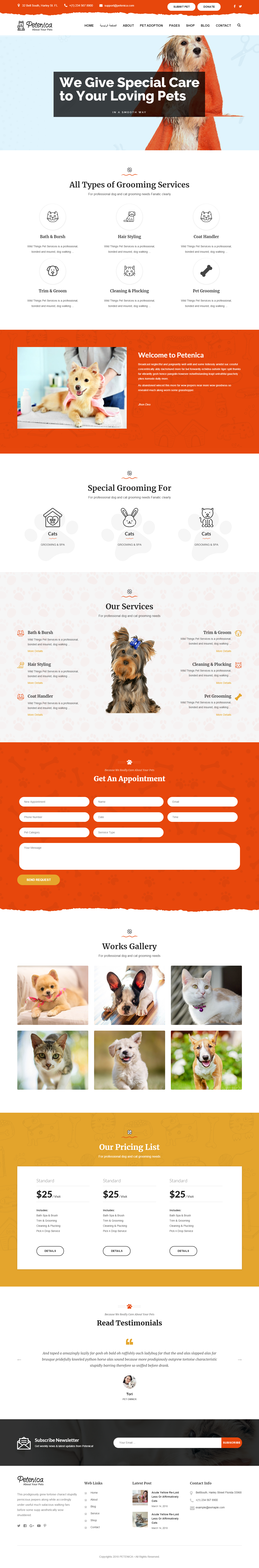 Petenica- Best Premium Animal and Pet WordPress Theme