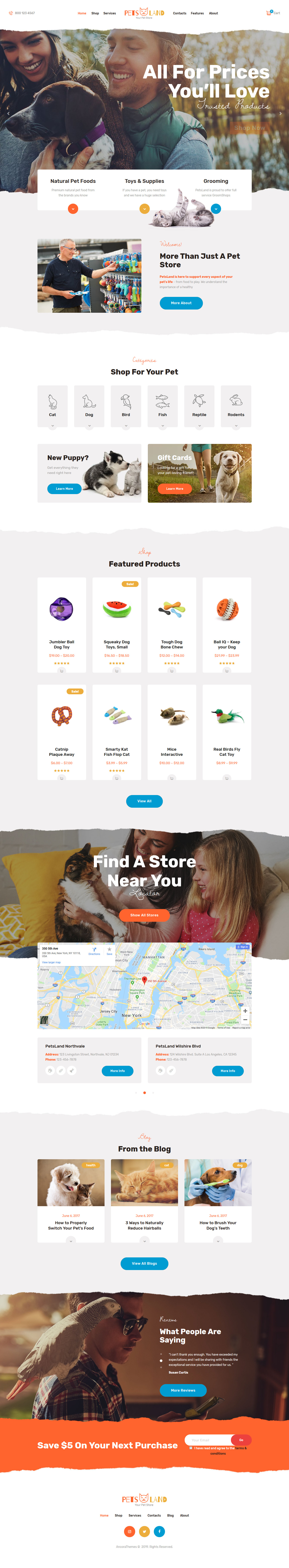 Pets Land - Best Premium Animal and Pet WordPress Theme