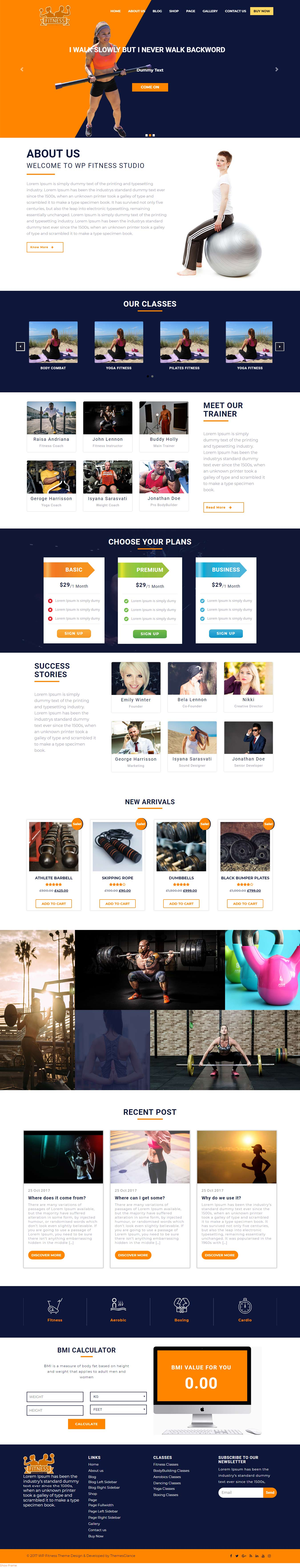 The WP Fitness - Best Free Fitness WordPress Theme