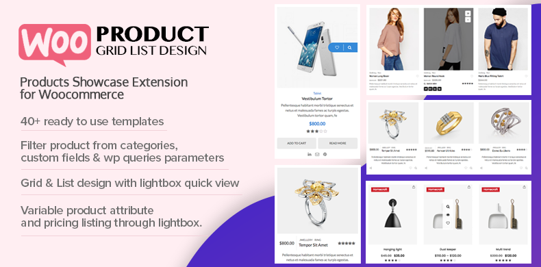 Woo Product Grid/List Design Plugin Featured On Codecanyon
