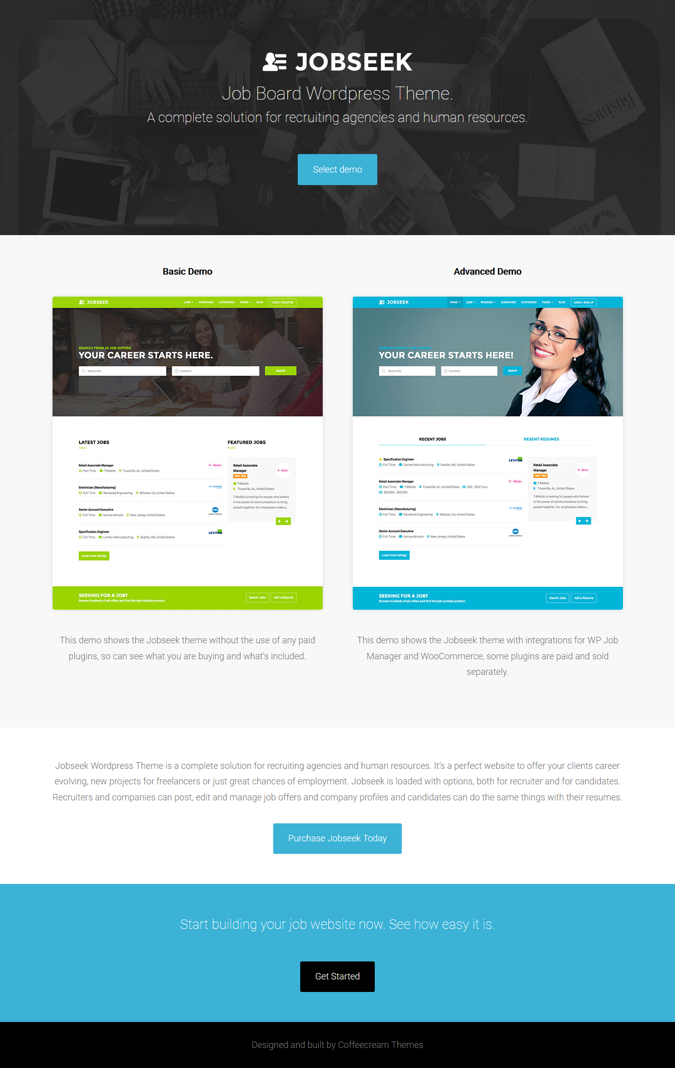 JobSeek Premium WordPress Job board Theme