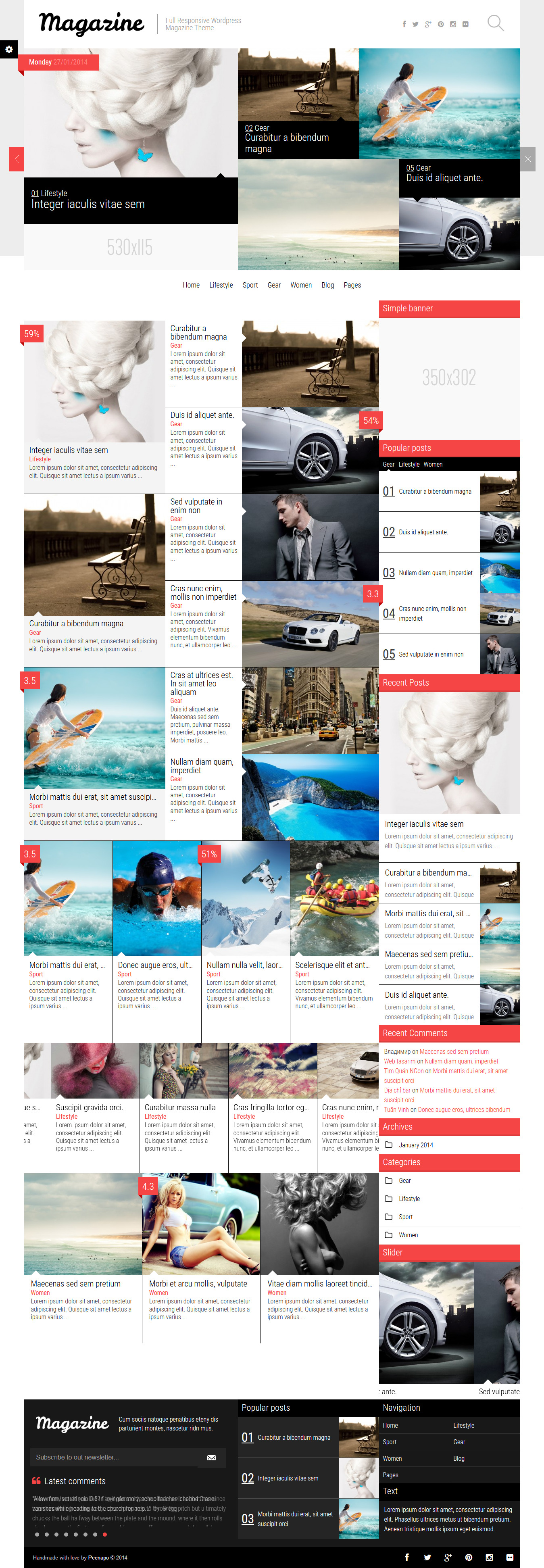 Magazine-NewsBlogReview Theme