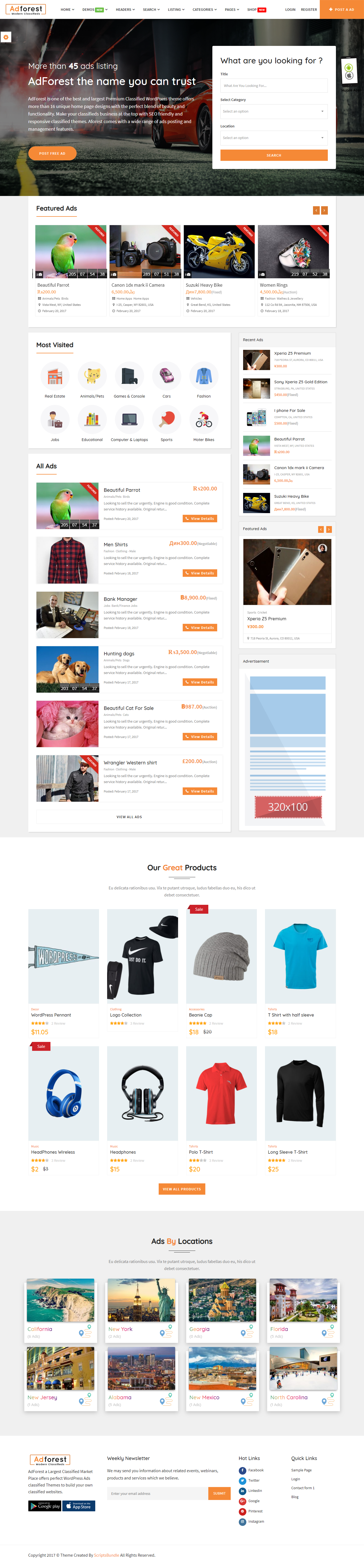 AdForest - Best Premium Classified WordPress Theme