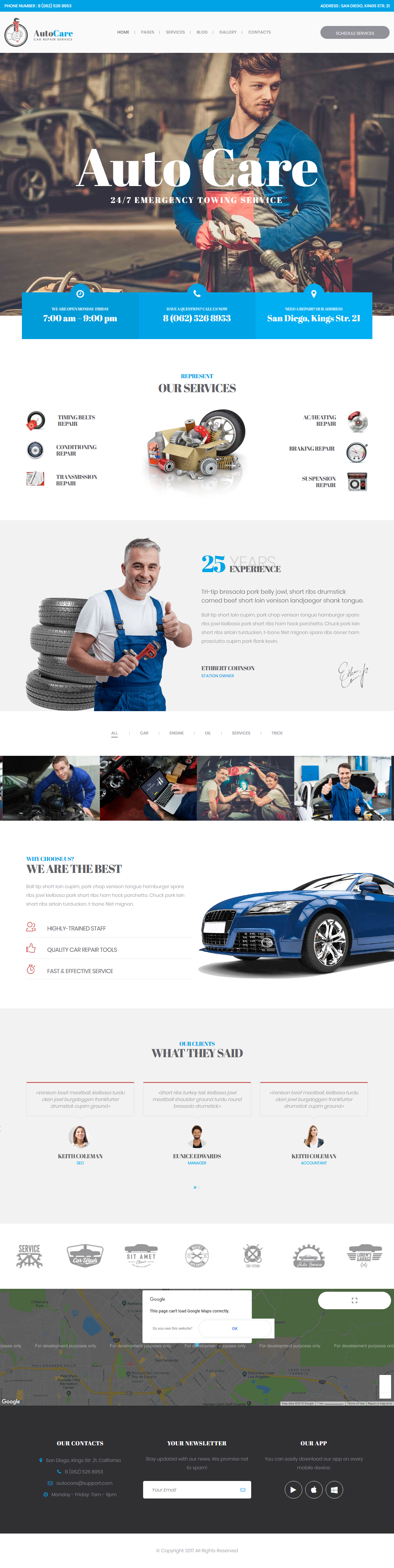 AutoCare - Best Premium Automobile WordPress Theme