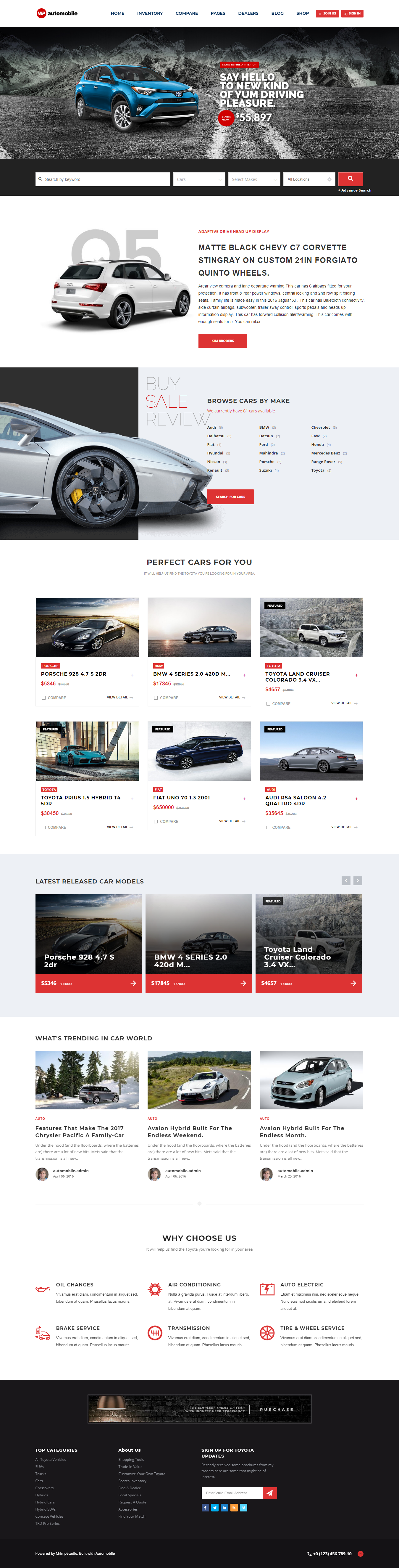 Automobile - Best Premium Automobile WordPress Theme