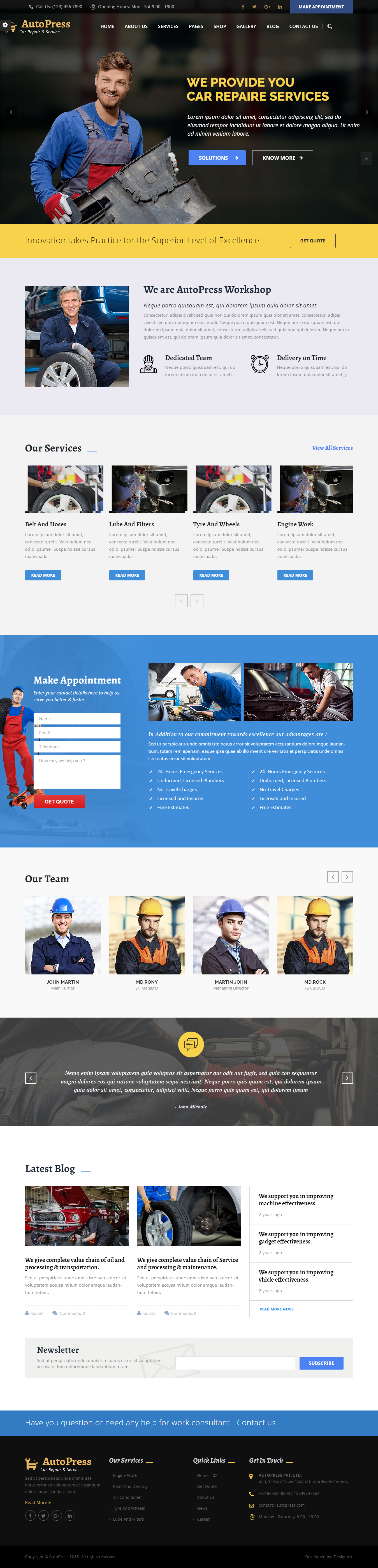 AutoPress - Best Premium Automobile WordPress Theme