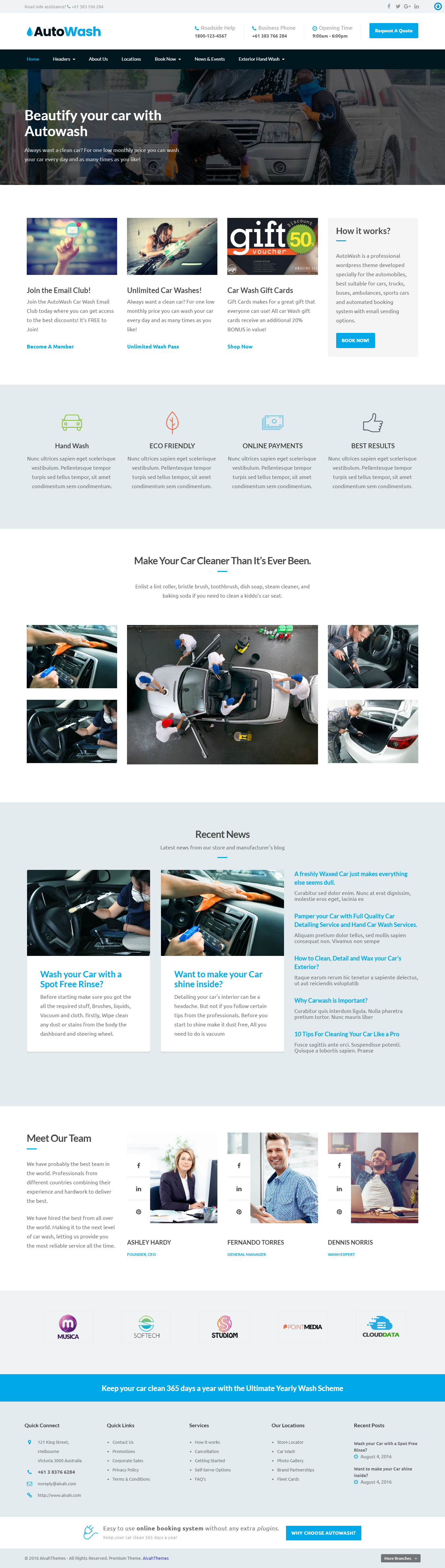 Autowash - Best Premium Automobile WordPress Theme