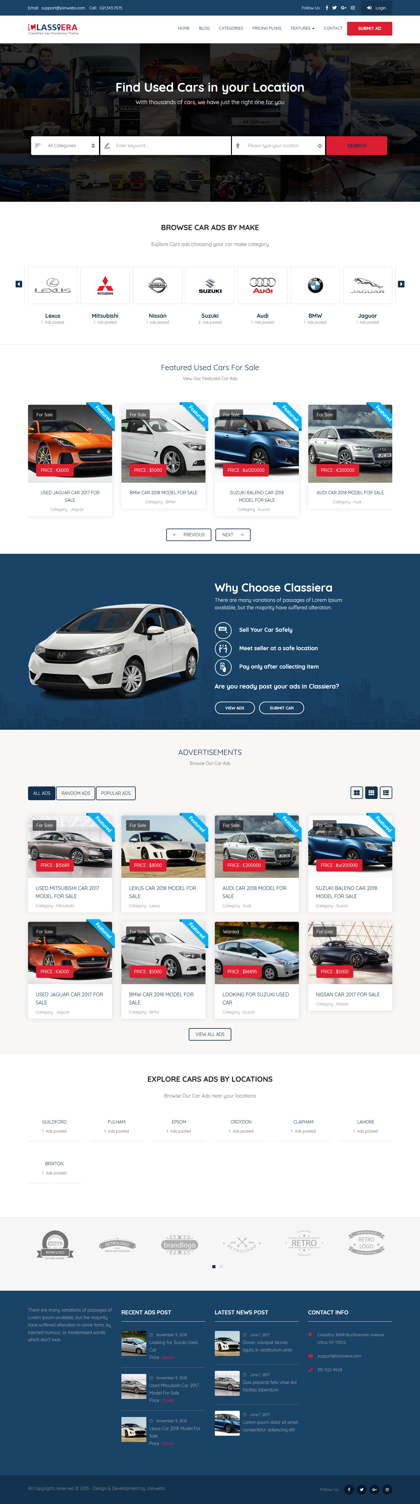 Classiera - Best Premium Classified WordPress Theme