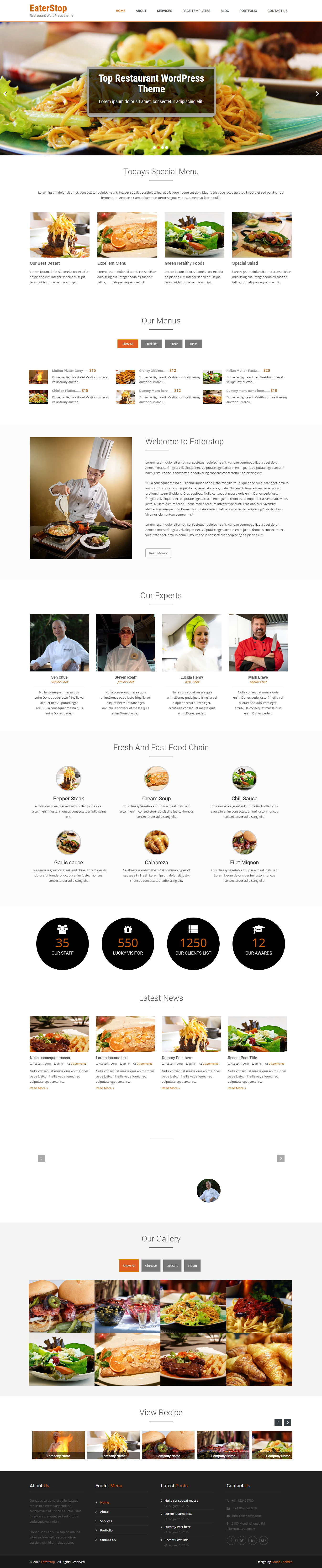 EaterStop Lite - Best Free Bar and Pub WordPress Theme