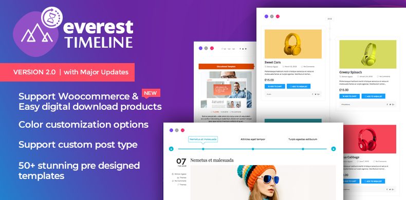 Responsive WordPress Timeline Plugin –  Everest Timeline