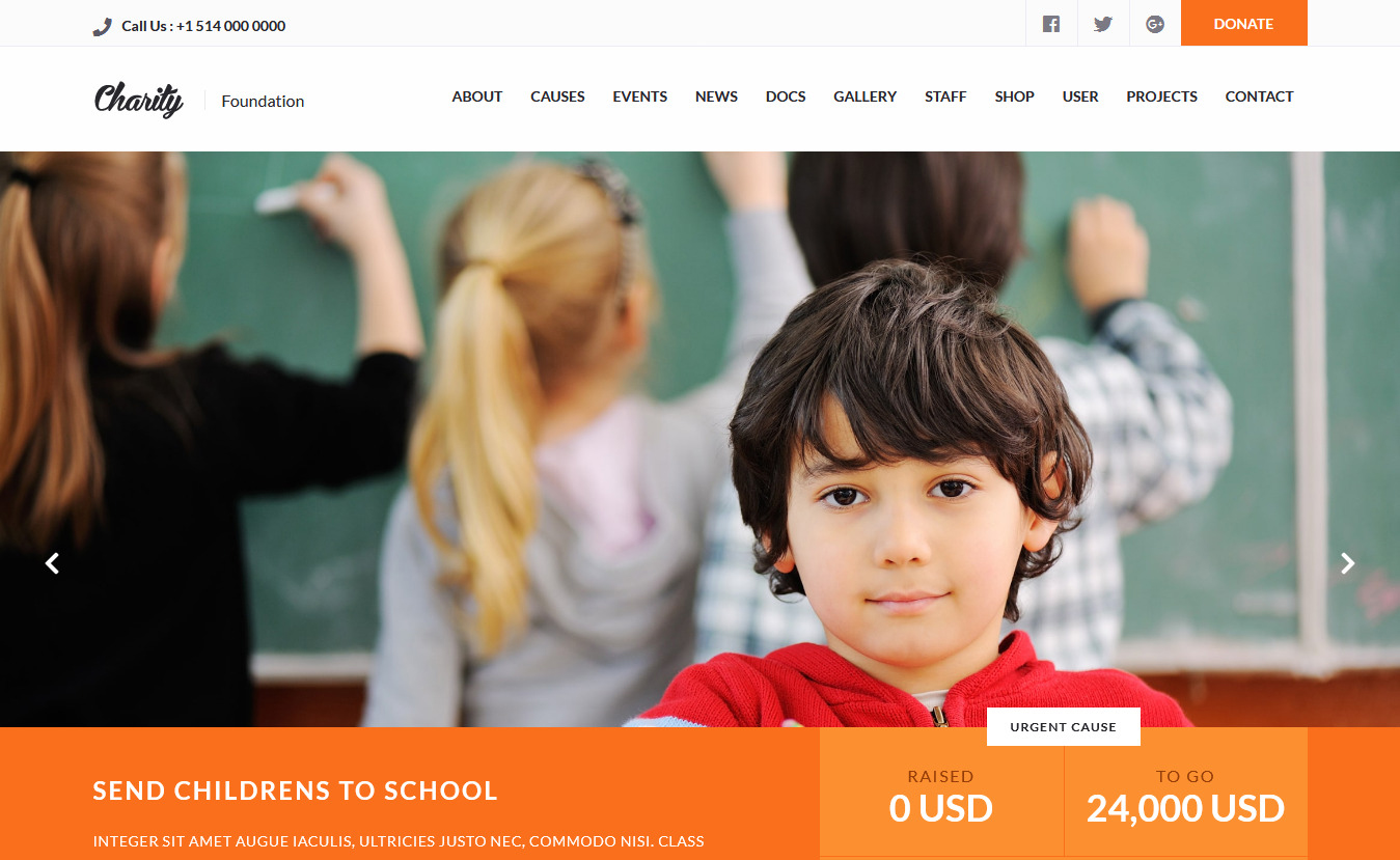Charity Premium Gutenberg WordPress Theme