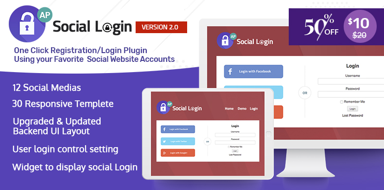 Premium WordPress Plugin for Social Login – AccessPress Social Login