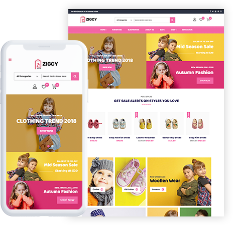 Free Baby and Kids Store WooCommerce Theme – Zigcy Baby