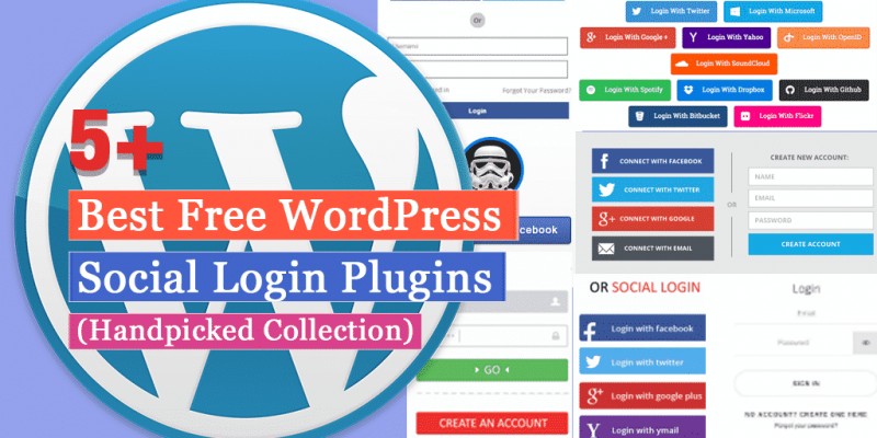 5+ Best Free WordPress Social Login Plugins (Handpicked Collection)