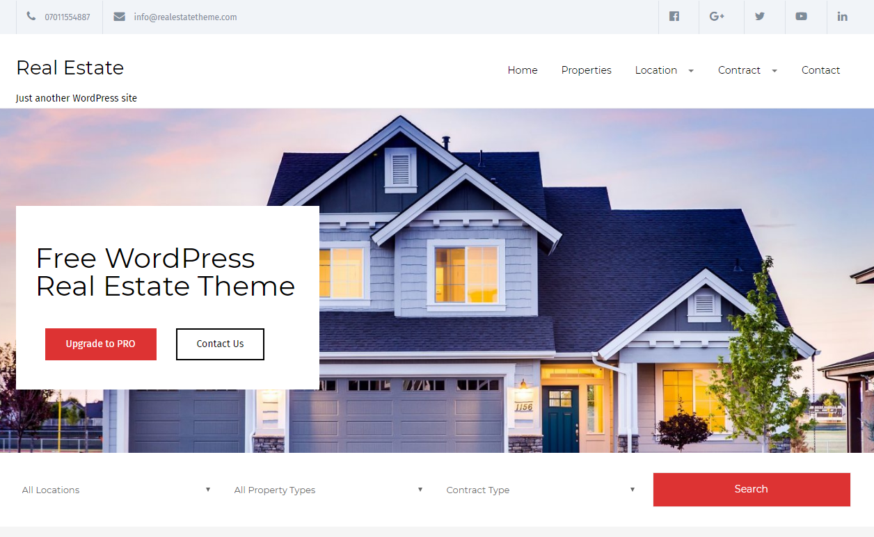 Real Estate Lite - Home Rental Property WP Theme