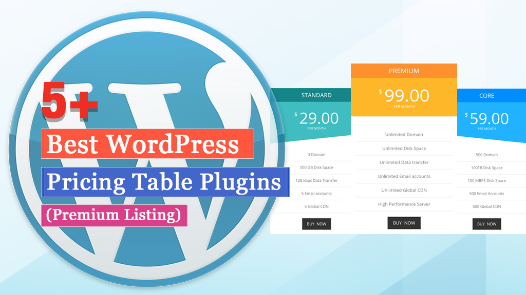 Best WordPress Pricing Table Plugins (2020 Collection)